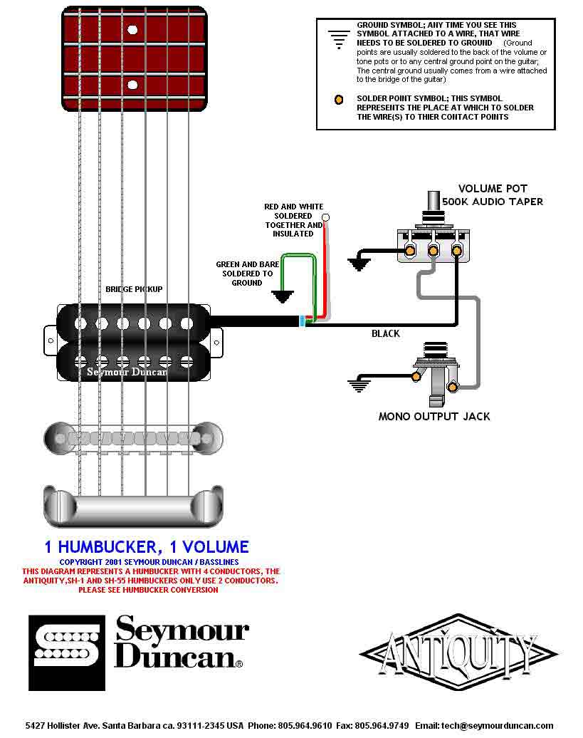 2 Conductor Humbucker Wiring Diagrams Only | Wiring Liry on